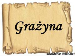 znaczenie_imienia_grazyna