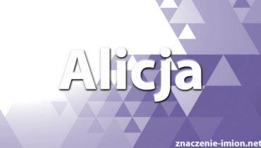 znaczenie imienia Alicja