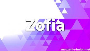 znaczenie imienia Zofia