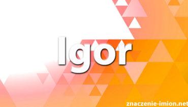 znaczenie imienia igor