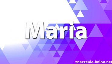 znaczenie imienia maria