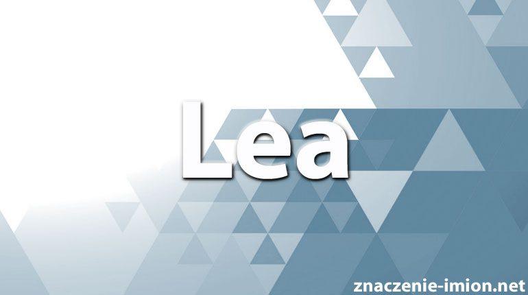 znaczenie imienia lea