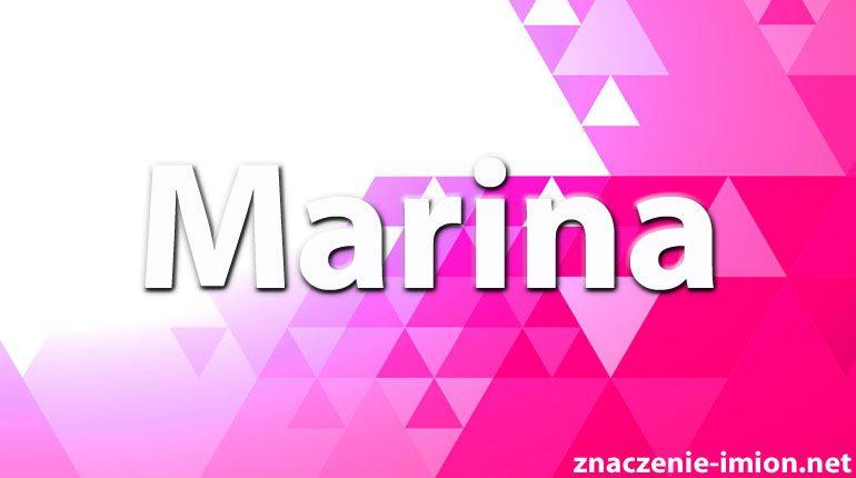 znaczenie imienia marina