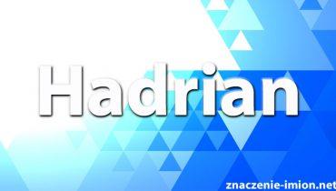 znaczenie imienia hadrian
