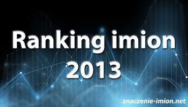 ranking imion 2013