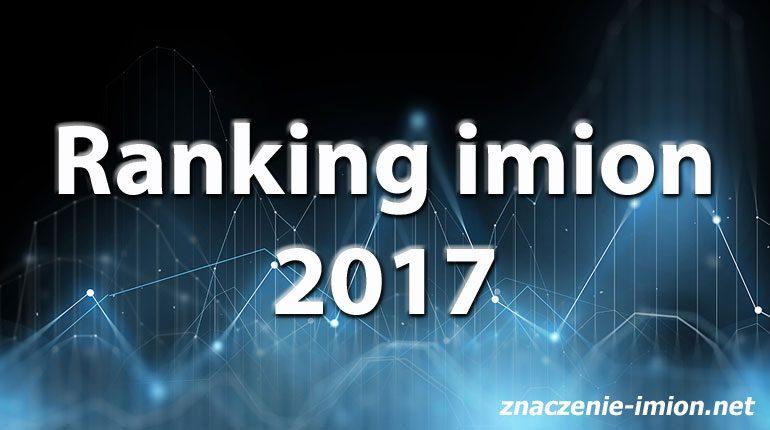ranking imion 2017
