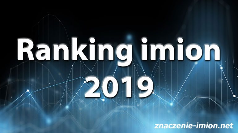 ranking imion 2019