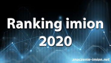 ranking imion 2020